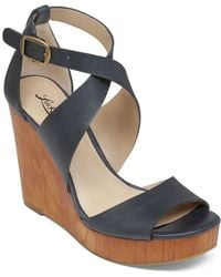 Lucky Brand Wedge Sandals - Lyndell - Blue