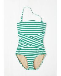 Downeast Basics - Down For A Dip One-Piece Swimsuit In Peacock - Lyst