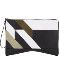 Narciso Rodriguez Brown Lygia Clutch - Lyst