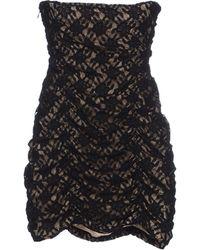 Patrizia Pepe Short Dress black - Lyst