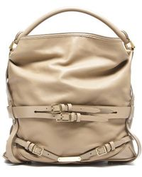 Burberry Pre-Owned Cappuccino Gosford Bridle Hobo Bag - Lyst