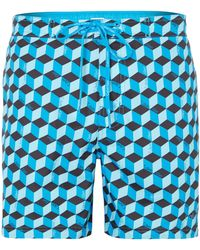 Calvin Klein All Over Geo Print Swim Short - Lyst