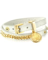 Juicy Couture Leather and Chain Wrap Bracelet - Lyst