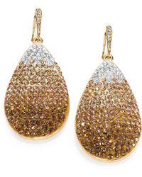 ABS By Allen Schwartz - Ombre Pave Drop Earrings - Lyst