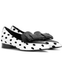 Erdem Bow-Embellished Leather Loafers - Lyst