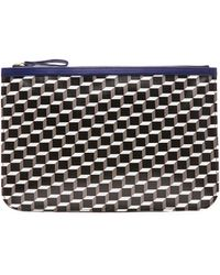 Pierre Hardy Canvas Cube and Grain Goat Pouch - Lyst