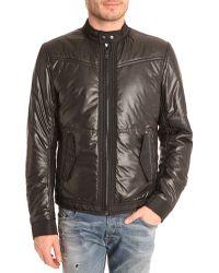 Diesel Jmalkia Black Nylon Padded Jacket - Lyst