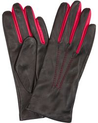 John Lewis - Two Tone Leather Gloves - Lyst