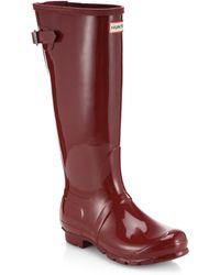 Hunter Gloss-Finish Original Rain Boots - Lyst