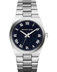 Michael Kors Mini Channing Silver Stainless Steel Watch - Lyst