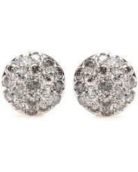Roberto Marroni - 18kt Rhodium-plated White Gold Baby Sand Diamond-encrusted Earrings - Lyst
