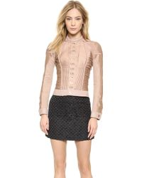 DSquared2 Ruched Jacket with Hardware - Nude - Lyst