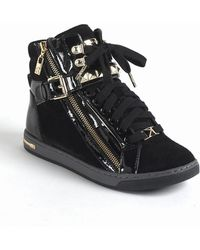 MICHAEL Michael Kors Glam Studded Suede High Top Sneakers - Lyst