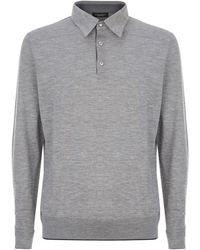 Stefano Ricci - Cashmere-silk Long Sleeve Polo Shirt - Lyst