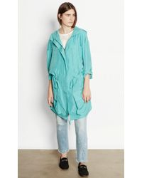 Equipment - Boven Silk Parka - Lyst