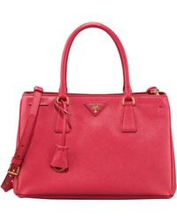 Prada Saffiano Gardners Tote Bag - Lyst