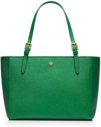 Tory Burch York Small Buckle Tote - Green