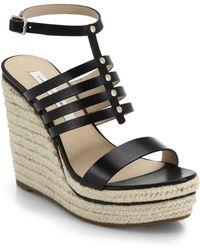 Diane von Furstenberg Gabby Espadrille-Wedge Leather Sandals - Lyst