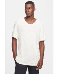 T By Alexander Wang Slub Scoop Neck T-Shirt - Lyst