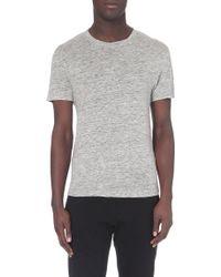 Sandro Linen T-Shirt - For Men - Lyst