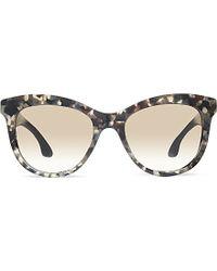 Miu Miu Mu10P Marbled Square Sunglasses - For Women - Lyst