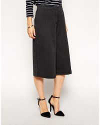 Asos Casual Culotte Trousers - Lyst