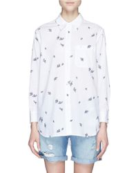 Equipment 'Daddy' Bee Print Washed Cotton Shirt white - Lyst
