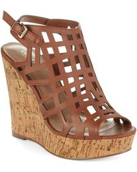 Charles By Charles David Affluent Cage Wedge Sandals - Lyst