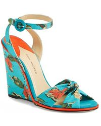 Paul Andrew 'Wisteria' Wedge Sandal - Lyst