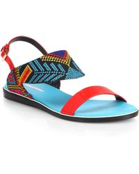 Nicholas Kirkwood Mexican Embroidered Sandals - Lyst