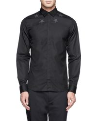 Givenchy Star Embroidery Oxford Shirt - Lyst