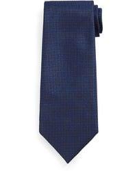 Tom Ford Micro-Check Silk Tie - Lyst