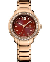 Tommy Hilfiger Women'S Rose Gold Ion-Plated Stainless Steel Bracelet Watch 36Mm 1781504 - Lyst