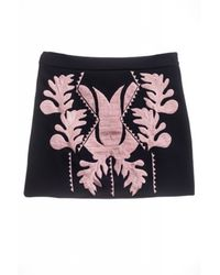 Cynthia Rowley Embroidered Bonded Mini - Lyst