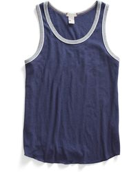 Todd Snyder X Champion Piped Tank Top In Mast Blue - Lyst