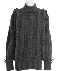 Christopher Kane Gray Sweater - Lyst