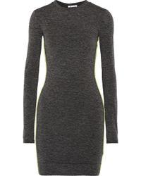 T By Alexander Wang Slub Jersey Mini Dress - Lyst