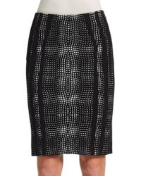 Diane von Furstenberg Panel Marta Pencil Skirt - Lyst