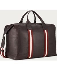 Bally Terret Small Men's Leather Travel Bag In Chocolate - Brown
