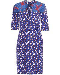 Stella McCartney Blue Silk Dress - Lyst