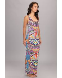 Mara Hoffman Fitted Tank Maxi Dress - Lyst