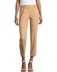 Michael Kors Samantha Skinny Wool Ankle Pants - Lyst