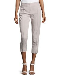 Halston Heritage Creased-front Skinny Ankle Pants - Lyst