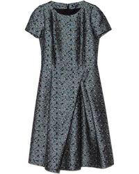 Jil Sander Navy Abito Short Sleeve Tweed Dress - Lyst