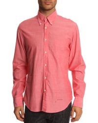 Gant Rugger Selvage Madras Red Shirt - Lyst