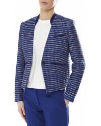 Paul by Paul Smith Boucle Jacket - Blue