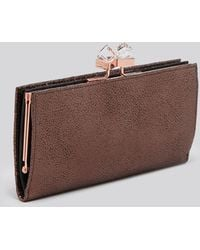 Ted Baker Wallet - Stingray-Embossed Popper Matinee Continental - Lyst