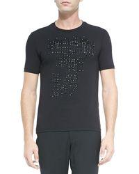Versace Studded Medusa T-Shirt - Lyst