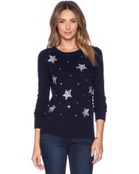Kate Spade Blue Constellation Sweater - Lyst