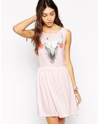 Wildfox Cherie Skull Dress - Lyst